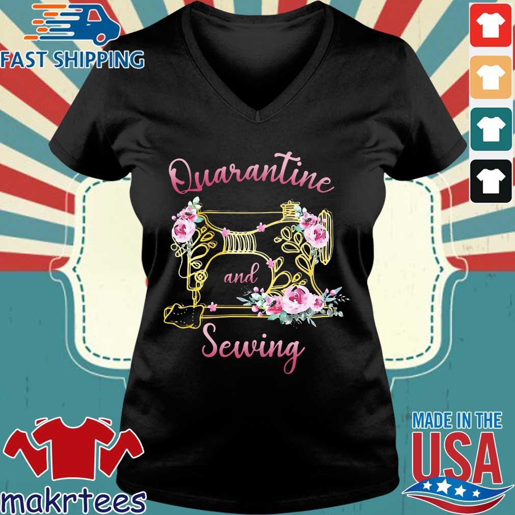 Quarantine And Sewing Shirt Ladies V-neck den