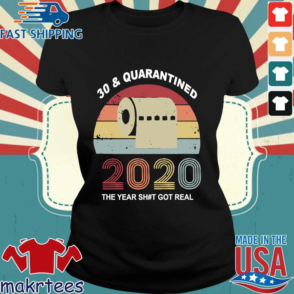 Quarantine Birthday 2020 Toilet Paper Vintage Shirts Ladies den