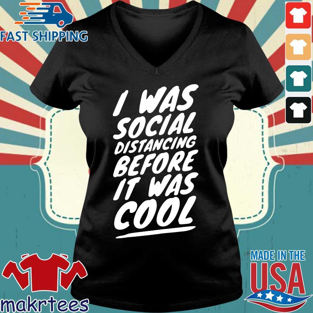 Quarantine Social Distancing Introvert Isolation 2020 Shirts Ladies V-neck den
