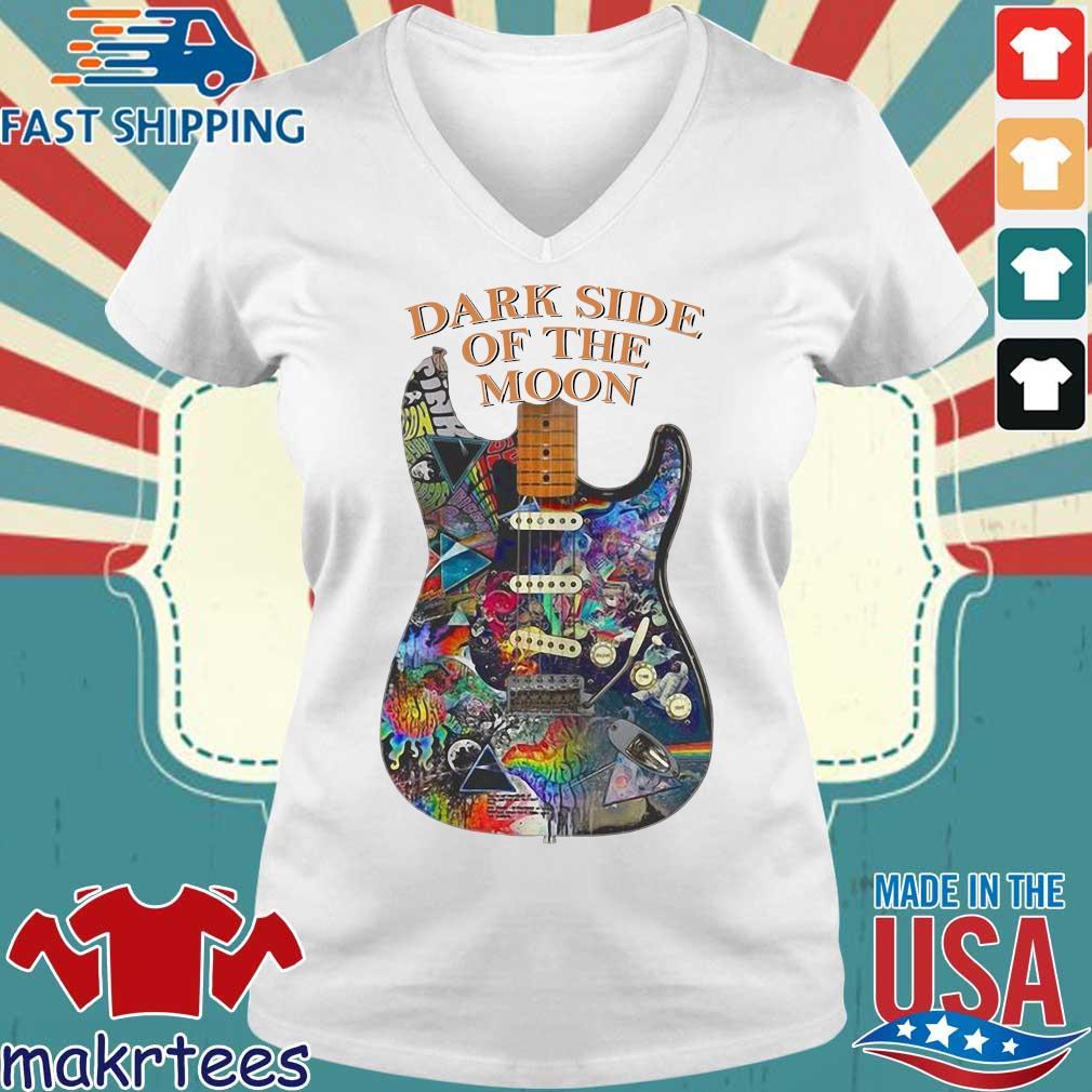 Richer Dark Side Of The Moon Guitar Shirt Ladies V-neck trang
