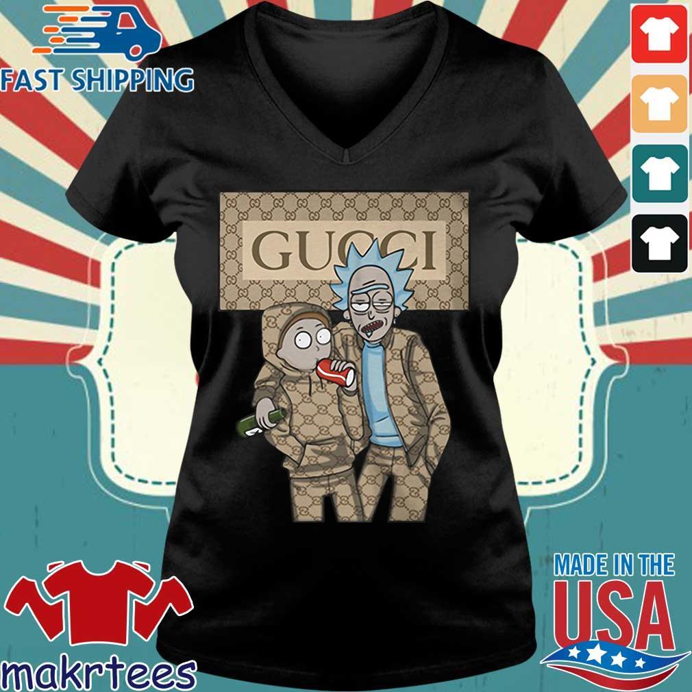 Rick And Morty Gucci Shirt Ladies V-neck den