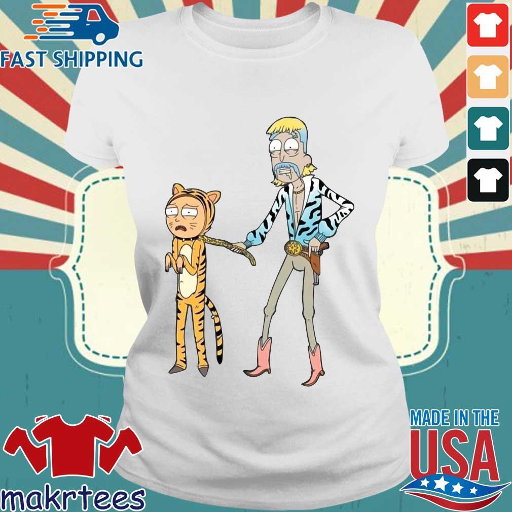 Rick And Morty Joe Exotic Tiger T-Shirt Ladies trang