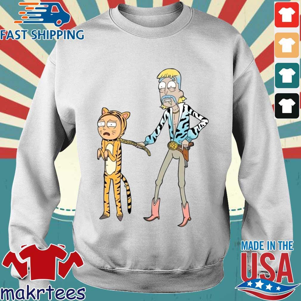 Rick And Morty Joe Exotic Tiger T-Shirt Sweater trang