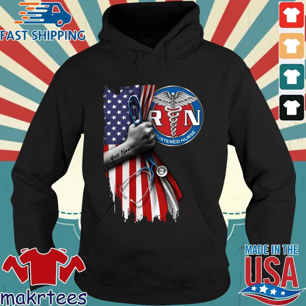 Rn Registered Nurse Inside American Flag Shirt Hoodie den