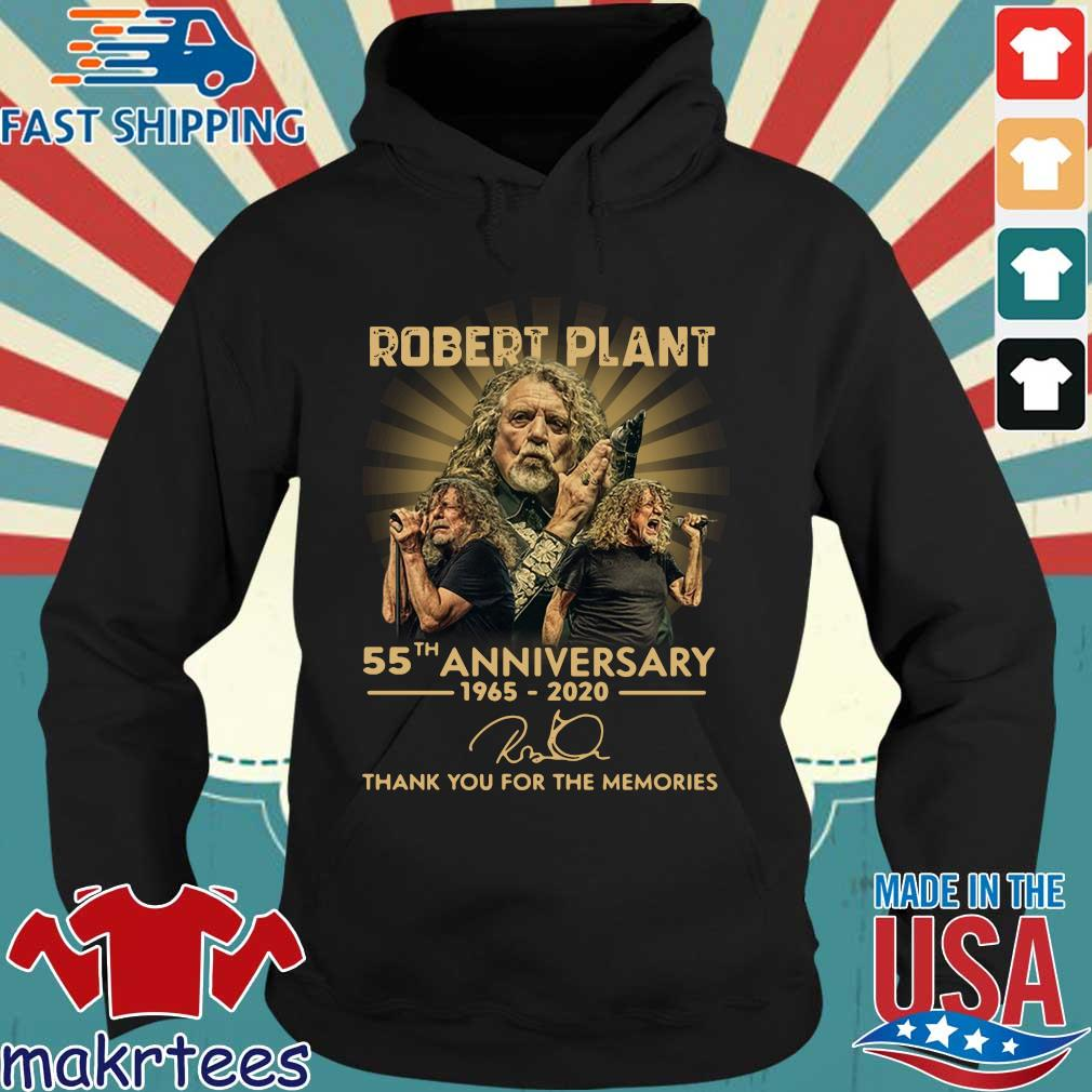 Robert Plant 55th Anniversary 1965-2020 Signature Thank You For The Memories Shirt Hoodie den
