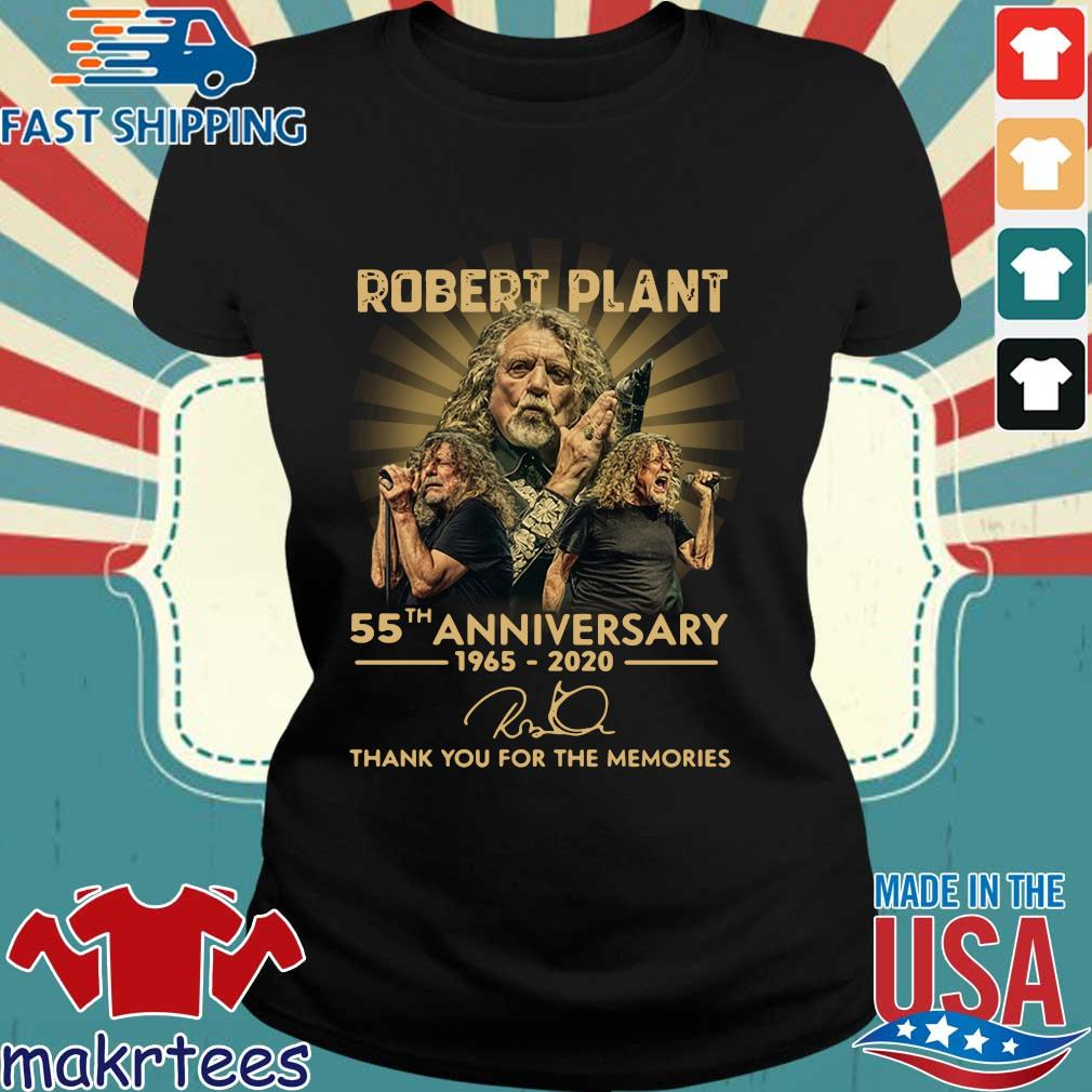 Robert Plant 55th Anniversary 1965-2020 Signature Thank You For The Memories Shirt Ladies den