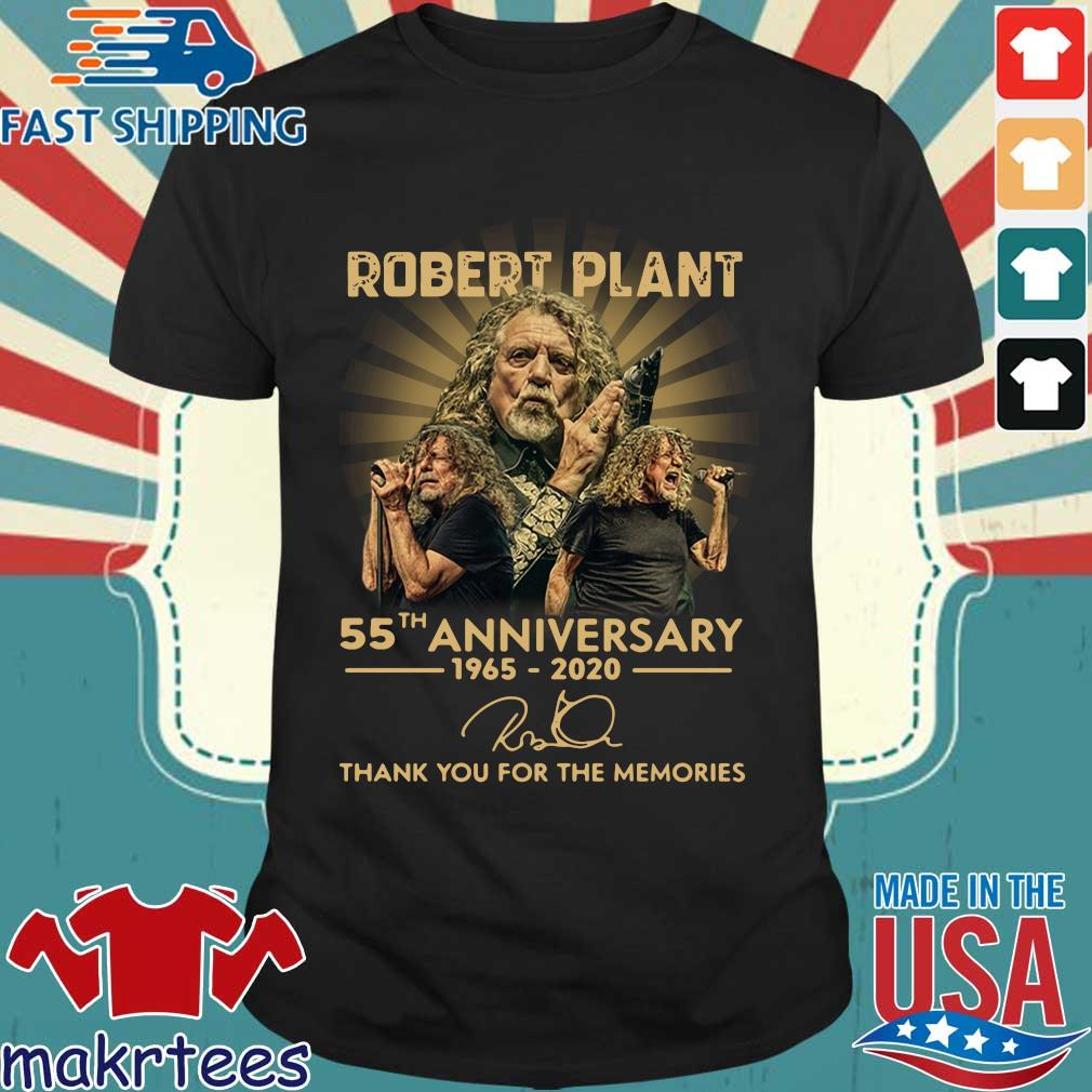 Robert Plant 55th Anniversary 1965-2020 Signature Thank You For The Memories Shirt