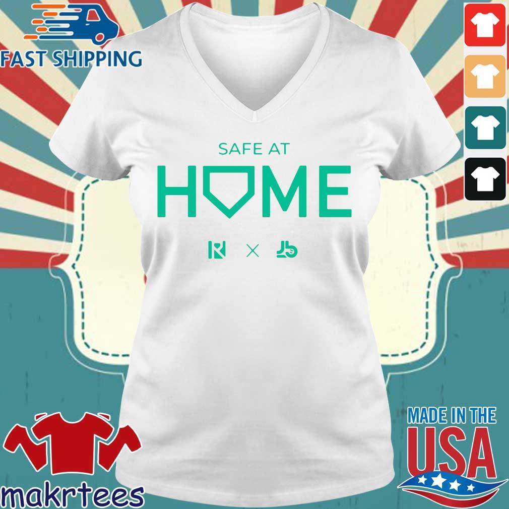Routine X Justbats Safe At Home Shirt Ladies V-neck trang