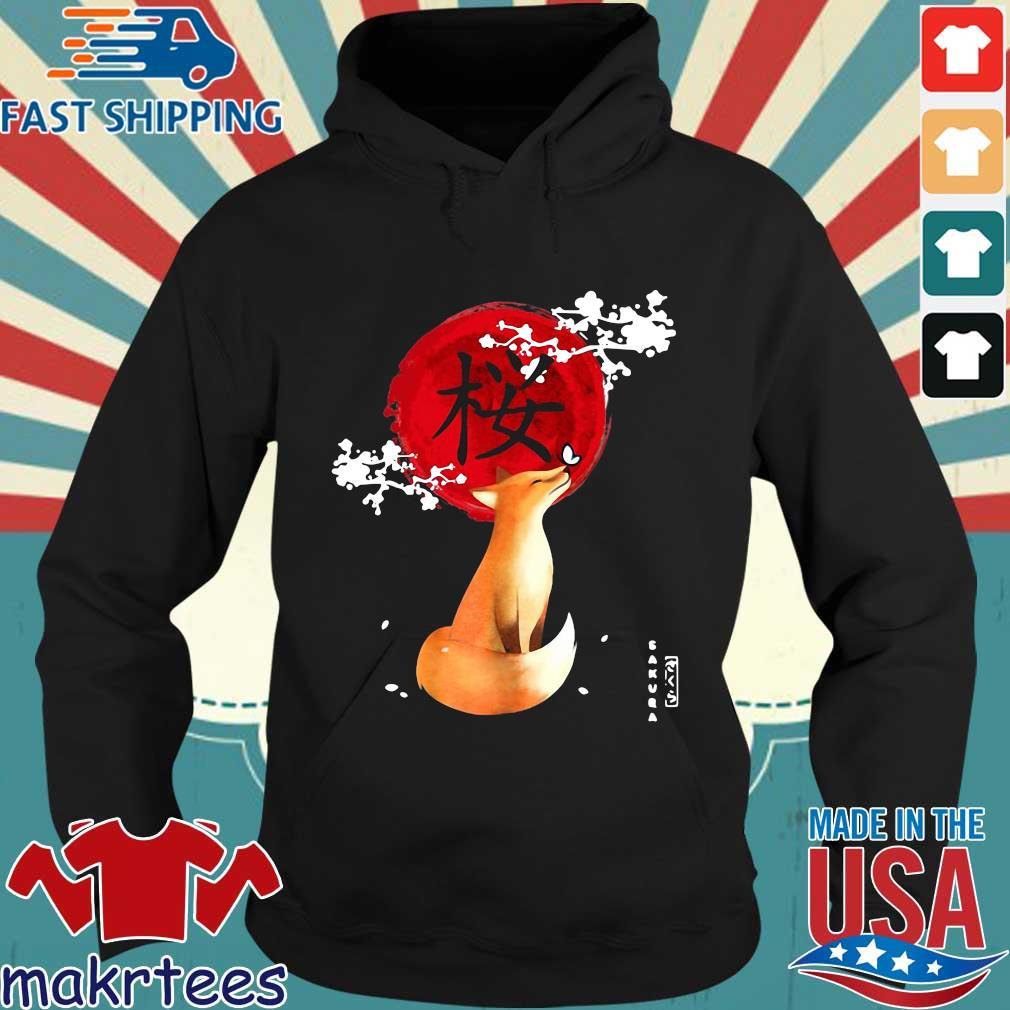 Sakura Cherry Blossom Fox Shirt Hoodie den