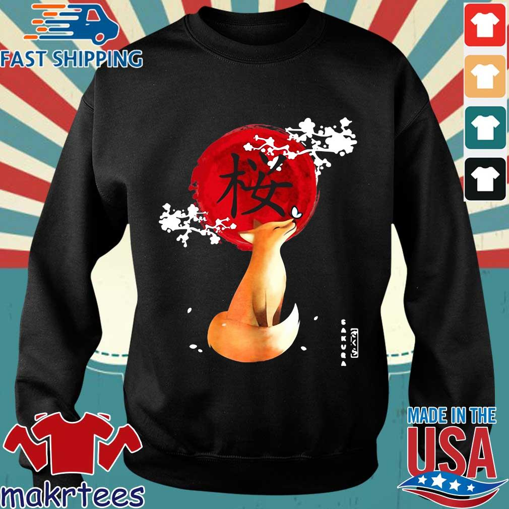 Sakura Cherry Blossom Fox Shirt Sweater den