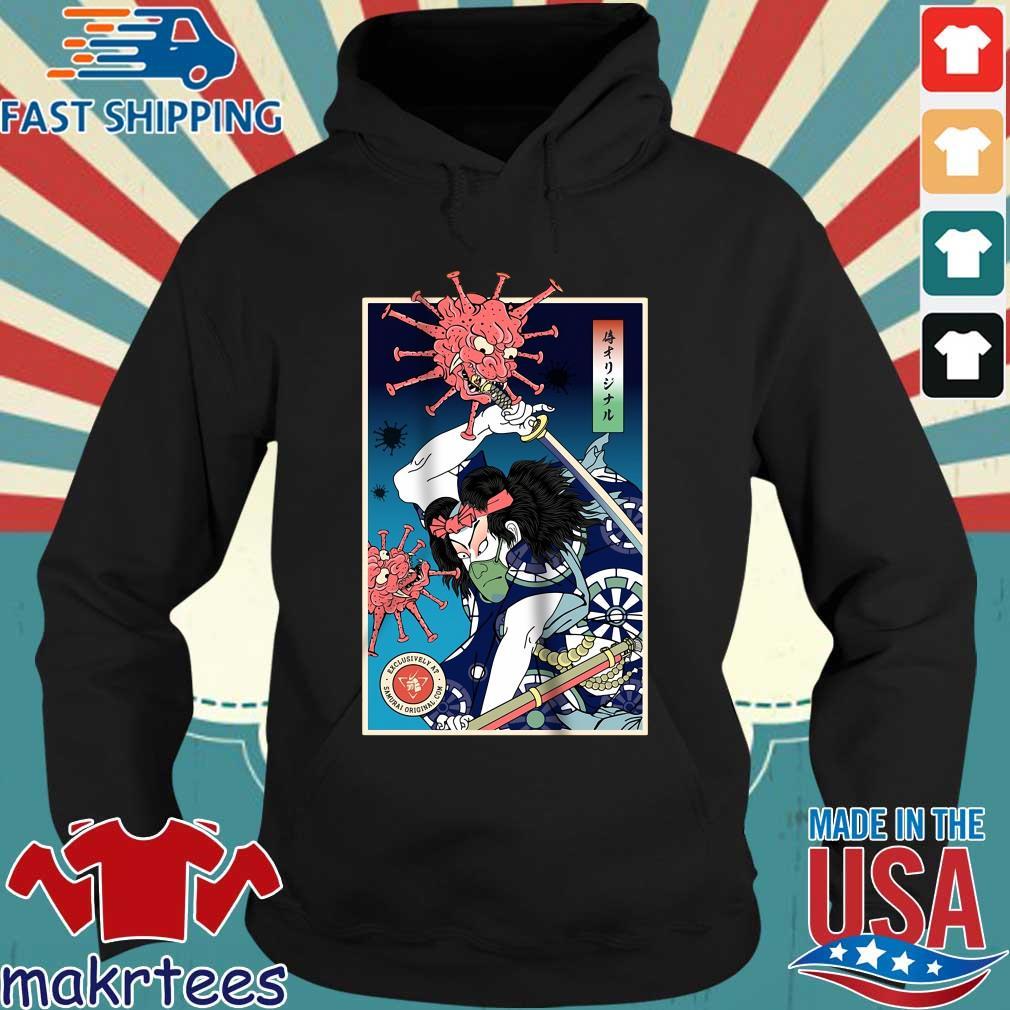 Samurai Corona Virus Shirt Hoodie den