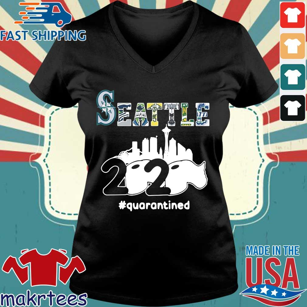 Seattle 2020 Quarantined Shirt Ladies V-neck den