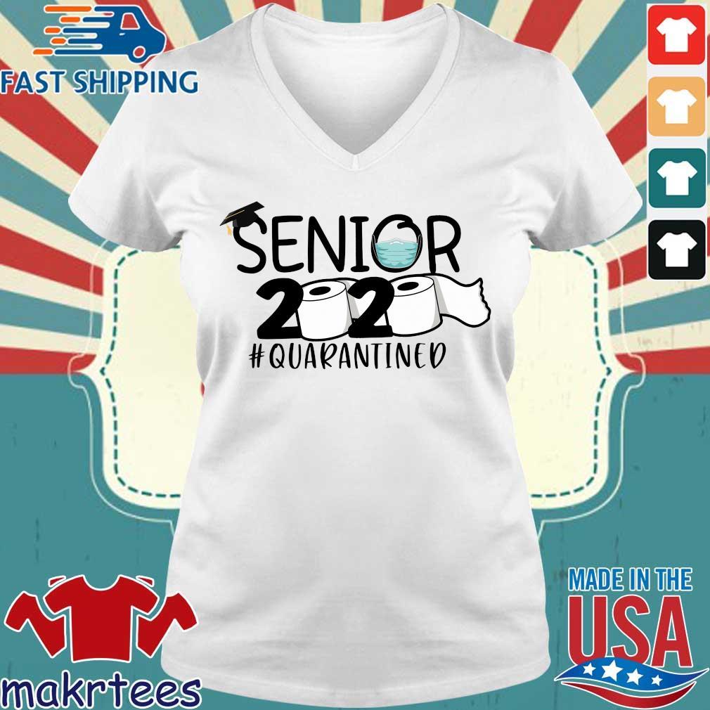 Senior 2020 Toilet Paper #quarantined Shirt Ladies V-neck trang