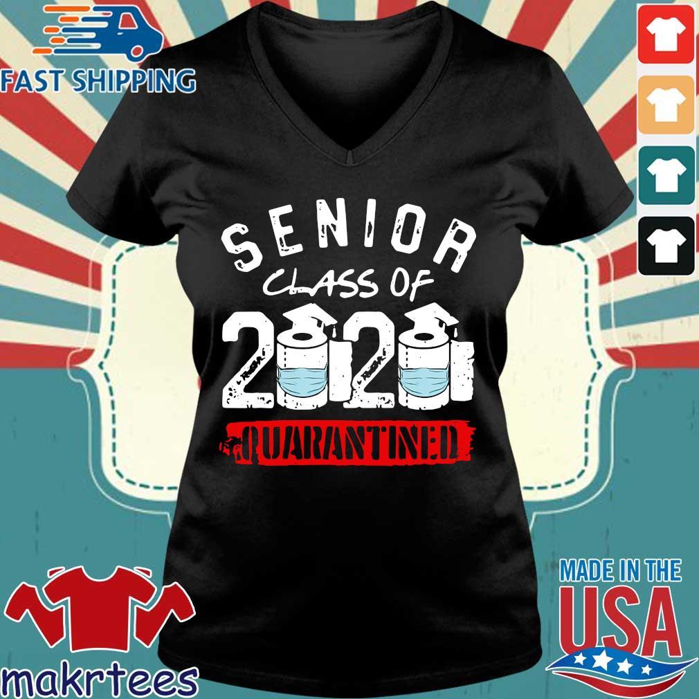 Senior Class of 2020 Quarantine Graduation Toilet Paper Shirt Ladies V-neck den