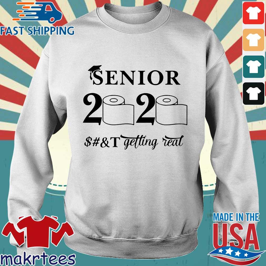 Seniors 2020 Getting Real Funny Toilet Paper Graduation Day Class of 2020 Tee Shirt Sweater trang