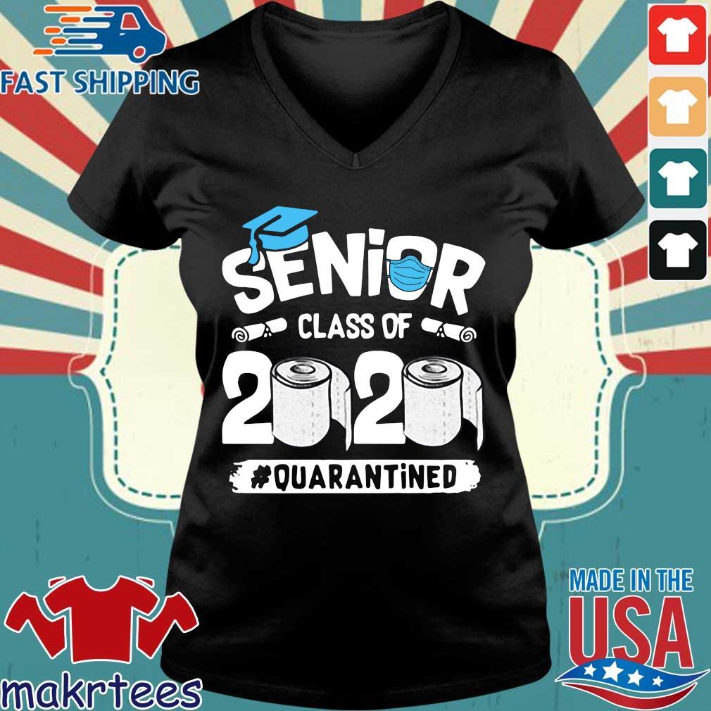 Seniors Graduation Class Of 2020 Quarantined Shirt Ladies V-neck den