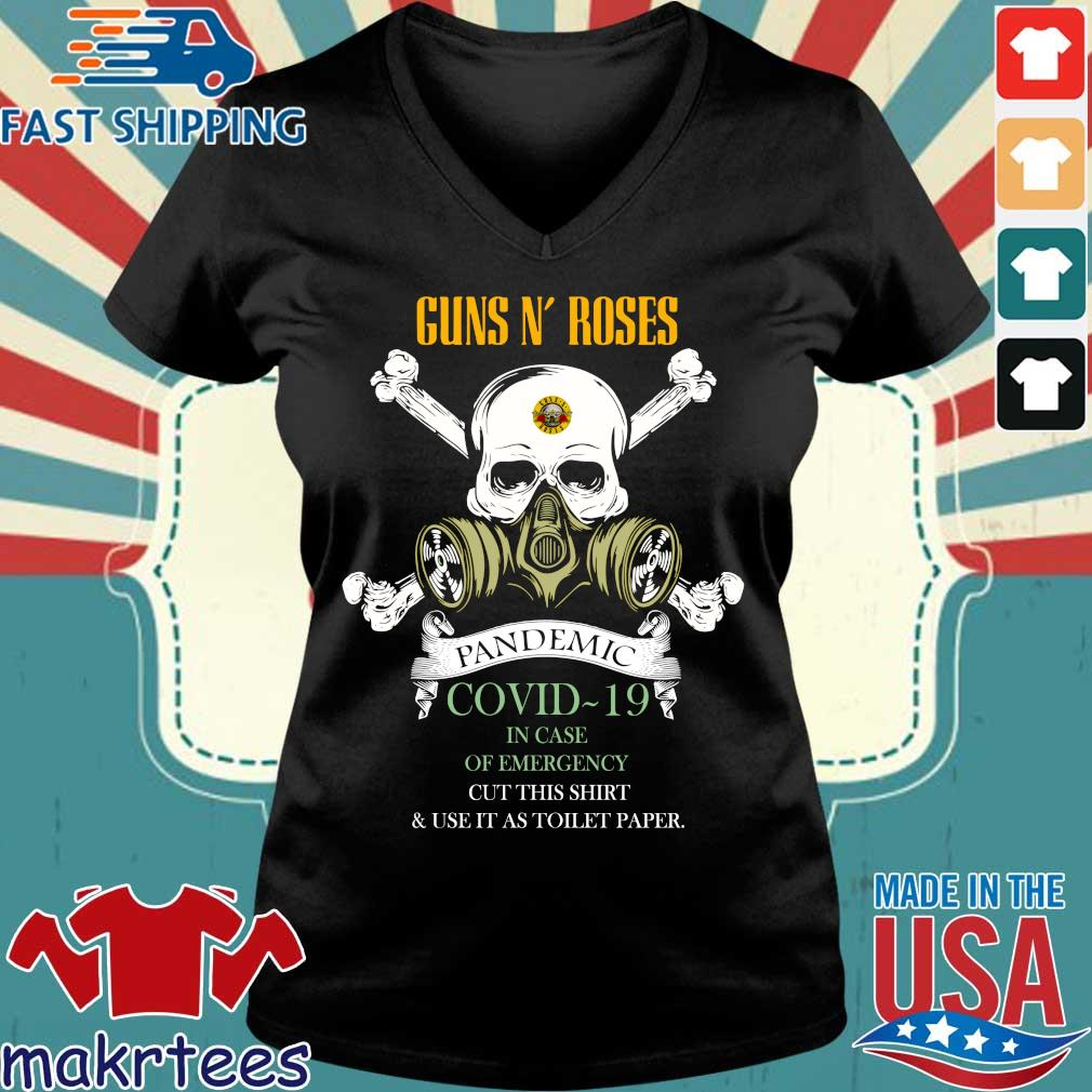 Skull Guns N' Roses 2020 Pandemic Covid-19 In Case Of Emergency Shirt Ladies V-neck den
