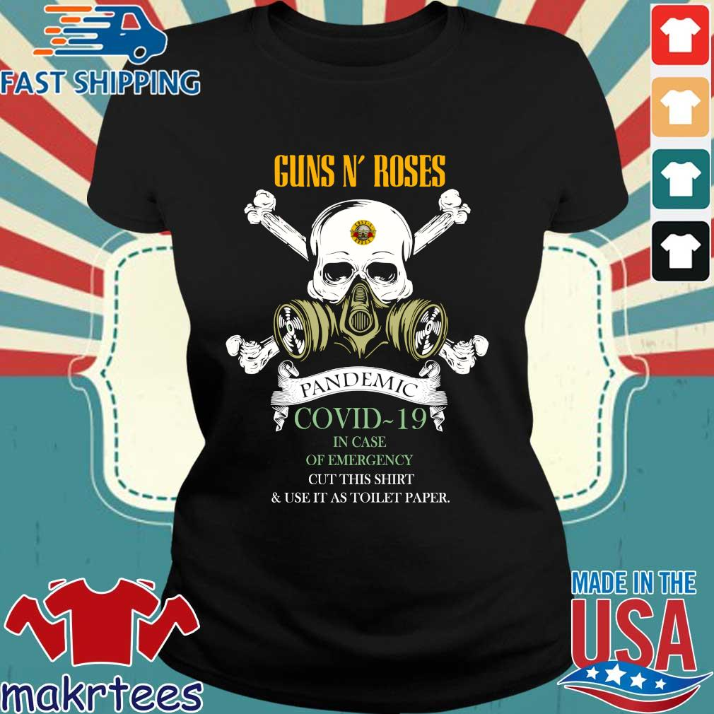 Skull Guns N' Roses 2020 Pandemic Covid-19 In Case Of Emergency Shirt Ladies den