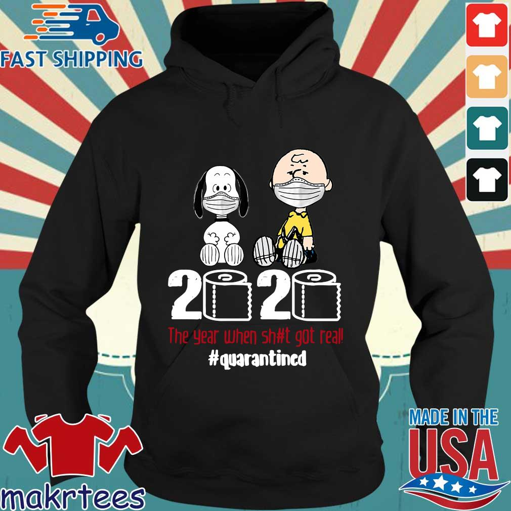 Snoopy And Charlie Brown 2020 The Year When Shit Got Real Quarantined Toilet Paper Mask Shirt Hoodie den