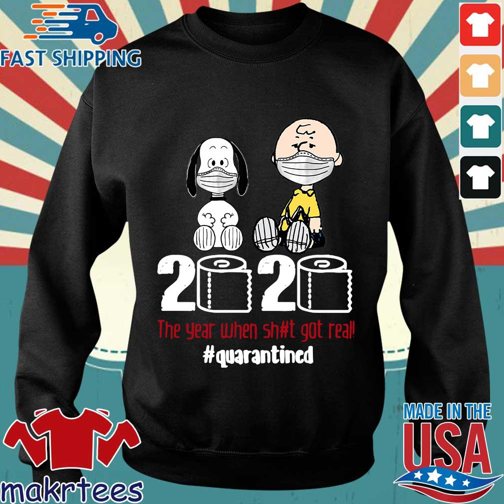 Snoopy And Charlie Brown 2020 The Year When Shit Got Real Quarantined Toilet Paper Mask Shirt Sweater den
