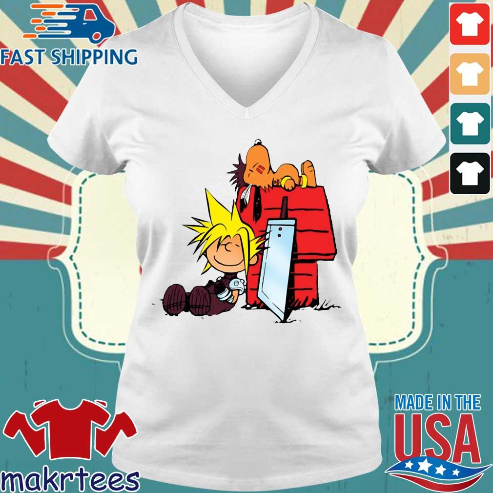 Snoopy And Charlie Brown Final Fantasy Shirt Ladies V-neck trang