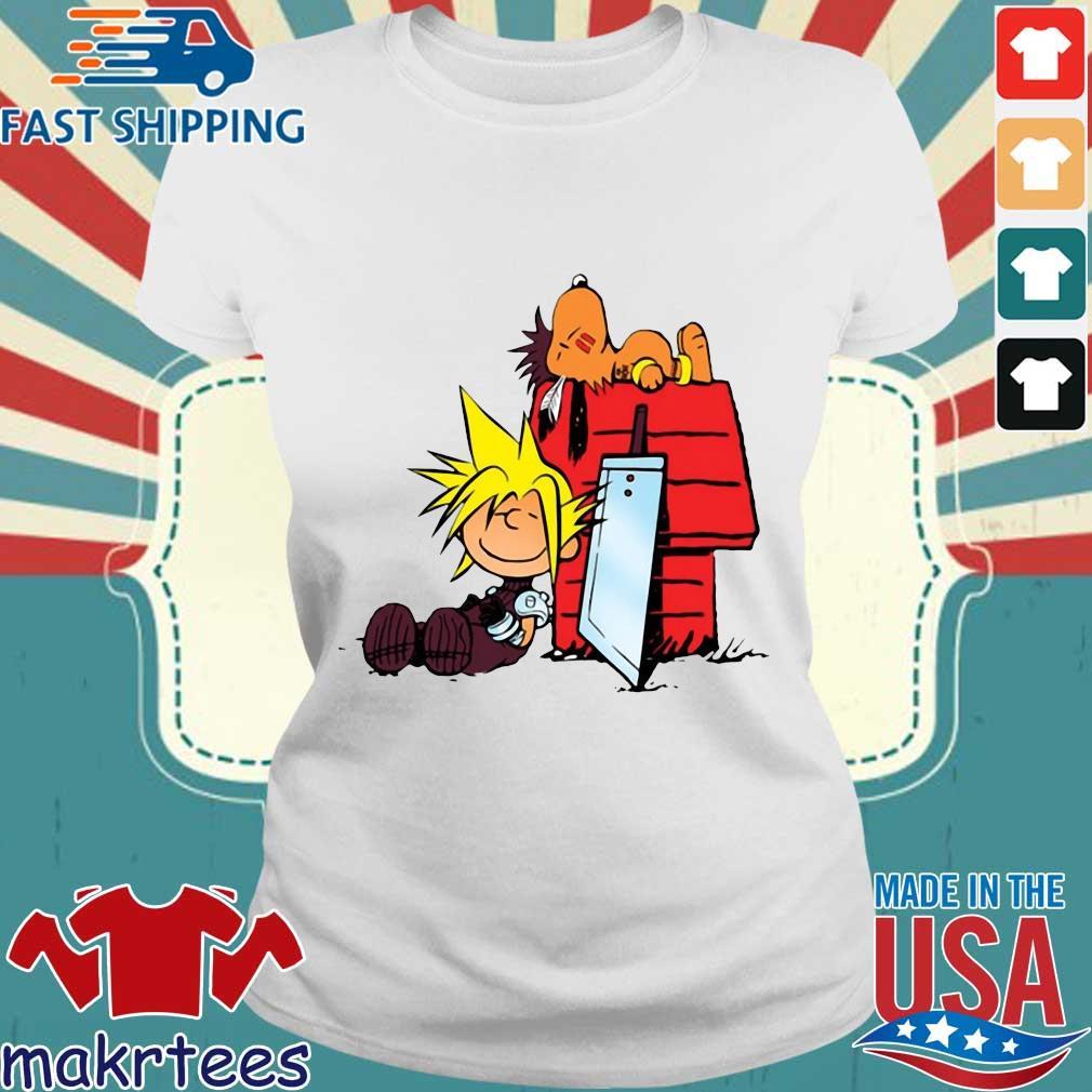 Snoopy And Charlie Brown Final Fantasy Shirt Ladies trang