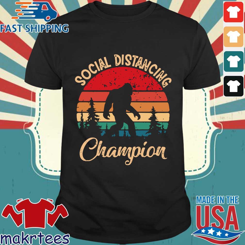 Social Distancing World Champion Bigfoot Vintage Shirt