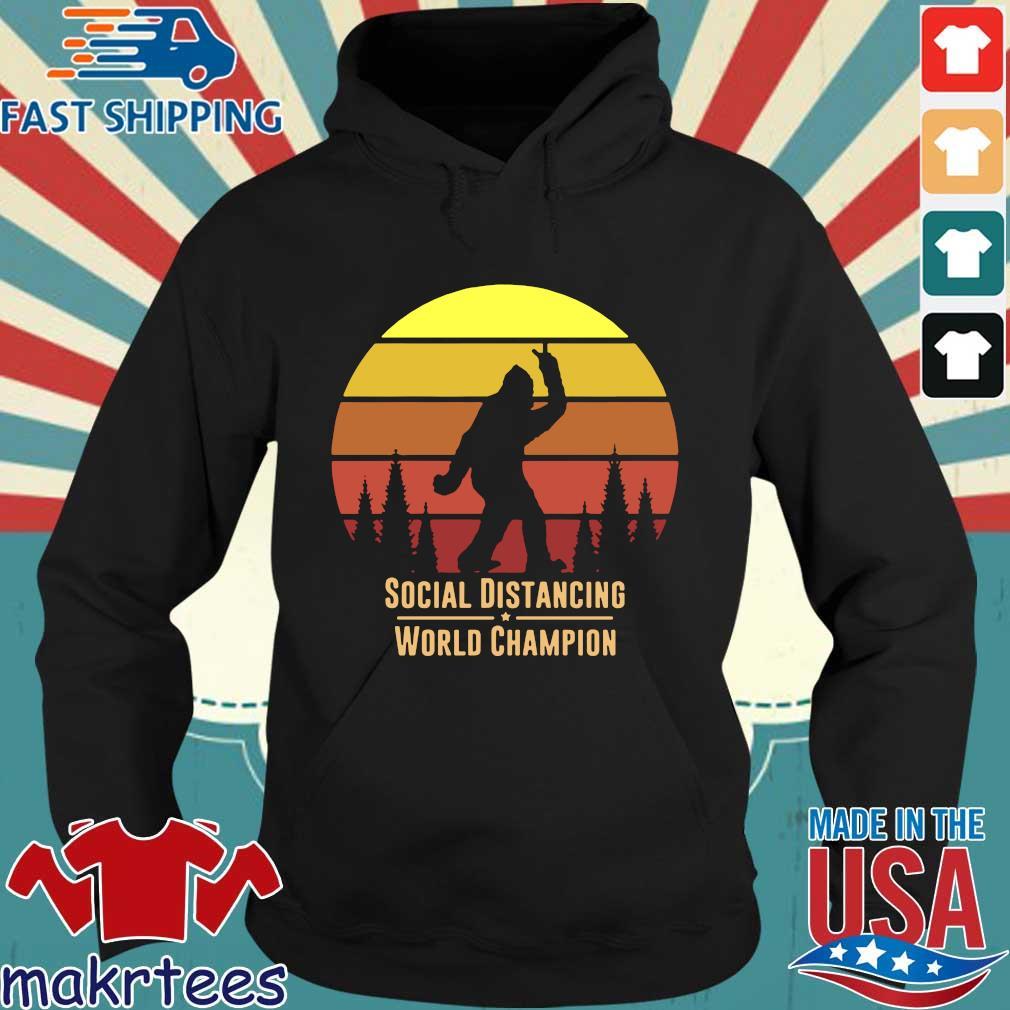 Social Distancing World Champion – Bigfoot Yeti Sunset T-Shirt Hoodie den