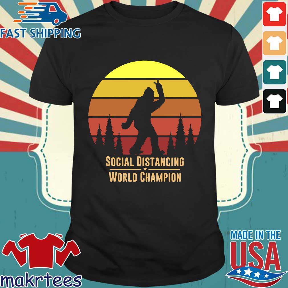 Social Distancing World Champion – Bigfoot Yeti Sunset T-Shirt