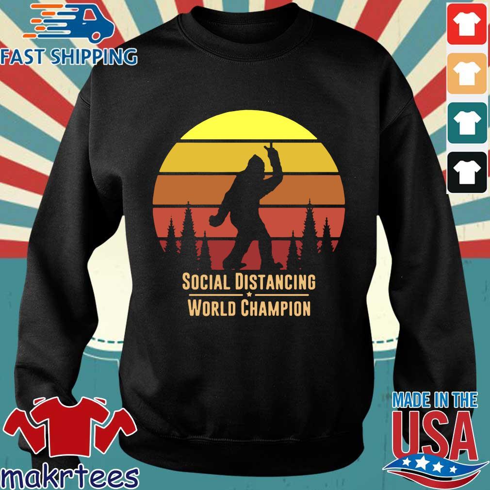 Social Distancing World Champion – Bigfoot Yeti Sunset T-Shirt Sweater den