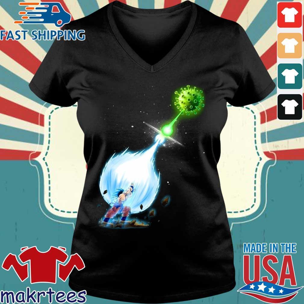 Son Goku Kamehameha Coronavirus Shirt Ladies V-neck den