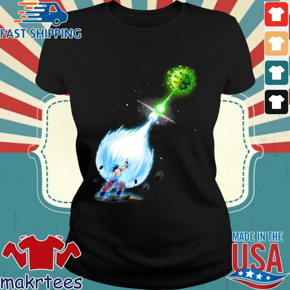 Son Goku Kamehameha Coronavirus Shirt Ladies den