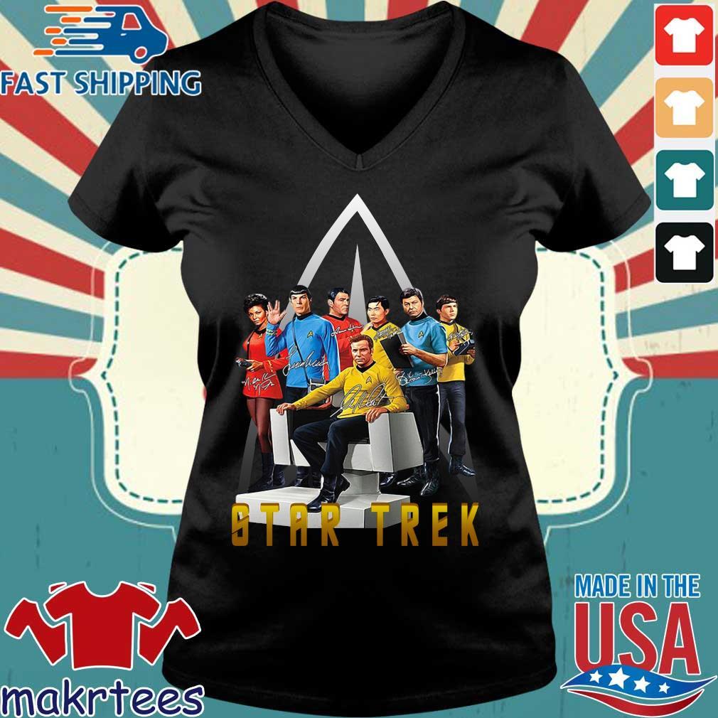 Star Trek Characters Signatures Shirt Ladies V-neck den