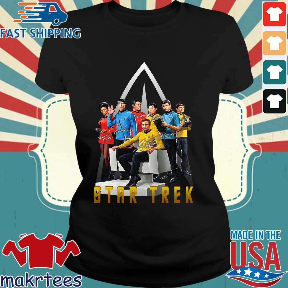 Star Trek Characters Signatures Shirt Ladies den