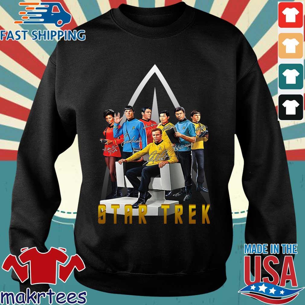 Star Trek Characters Signatures Shirt Sweater den