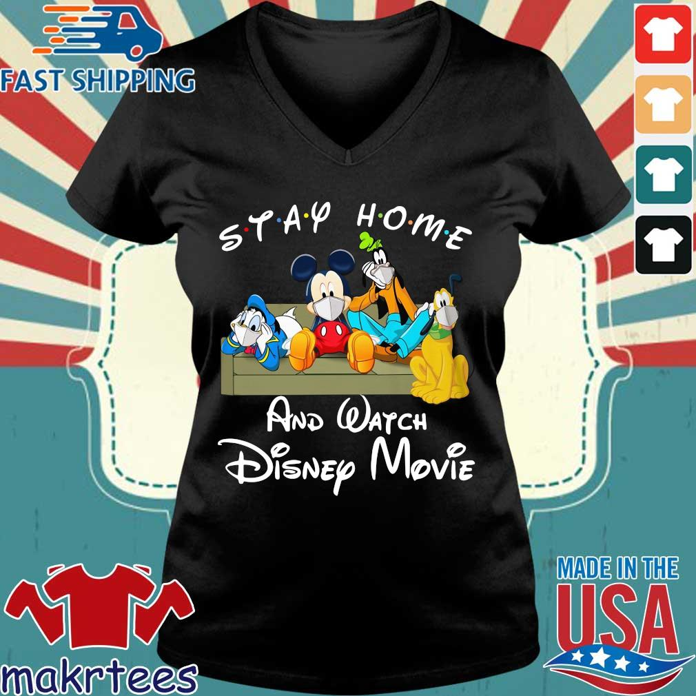 Stay Home And Watch Disney Movie Shirt Ladies V-neck den