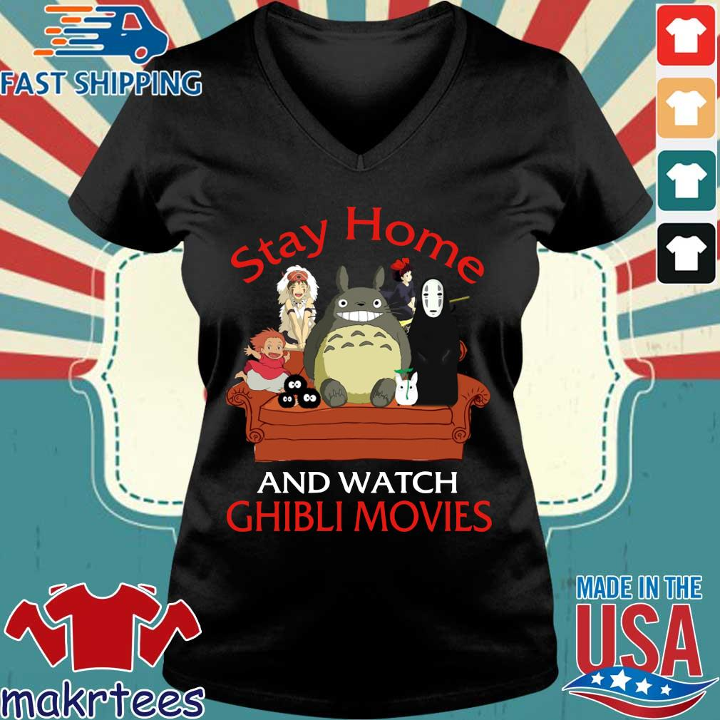 Stay Home And Watch Ghibli Movies Shirt Ladies V-neck den