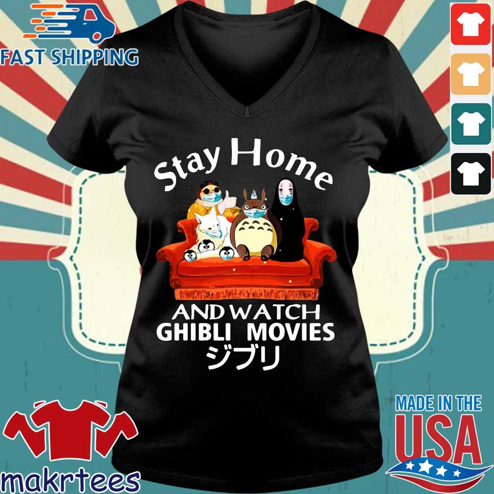 Stay Home And Watch Ghibli Movies T-s Ladies V-neck den