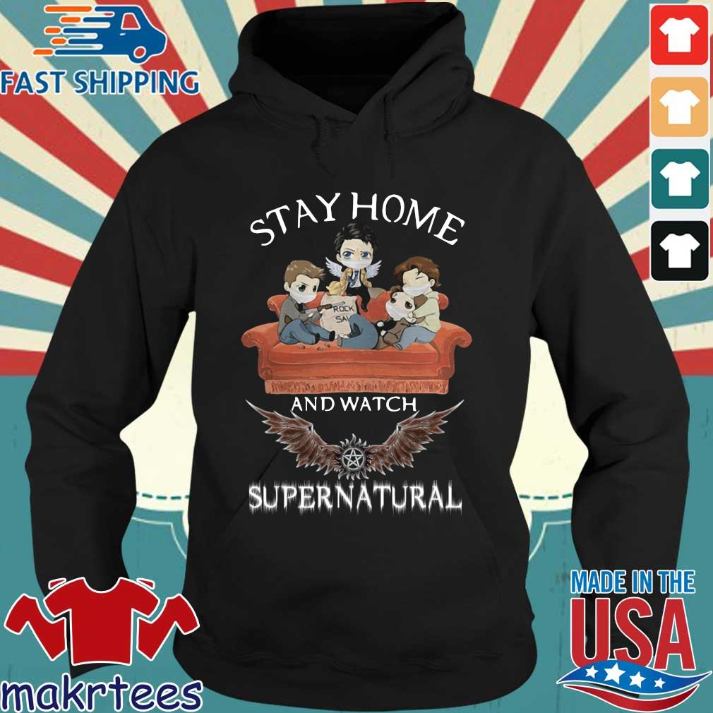 Stay Home And Watch Supernatural Mask In Sofa Covid-19 Shirt Hoodie den