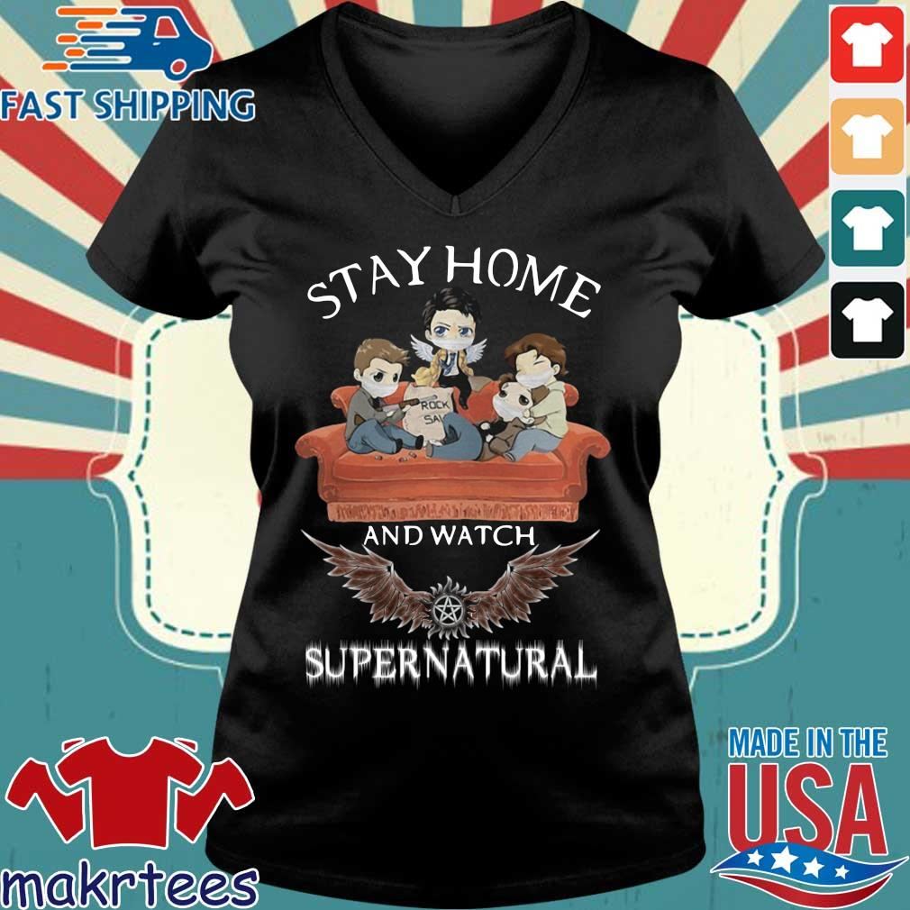 Stay Home And Watch Supernatural Mask In Sofa Covid-19 Shirt Ladies V-neck den