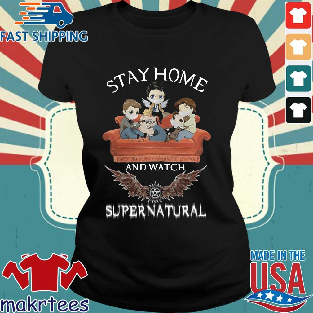 Stay Home And Watch Supernatural Mask In Sofa Covid-19 Shirt Ladies den