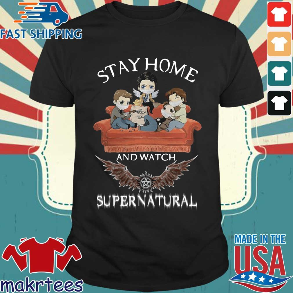 Stay Home And Watch Supernatural Mask In Sofa Covid-19 Shirt