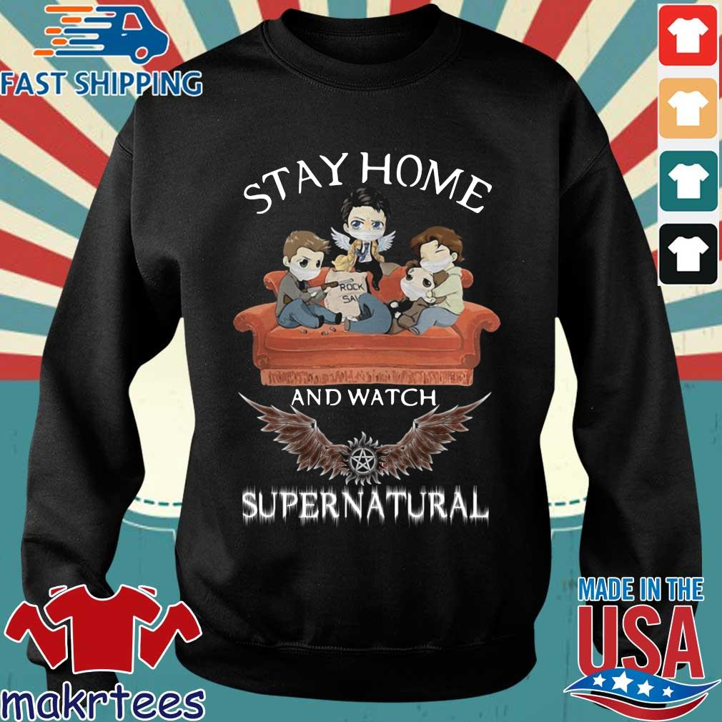 Stay Home And Watch Supernatural Mask In Sofa Covid-19 Shirt Sweater den