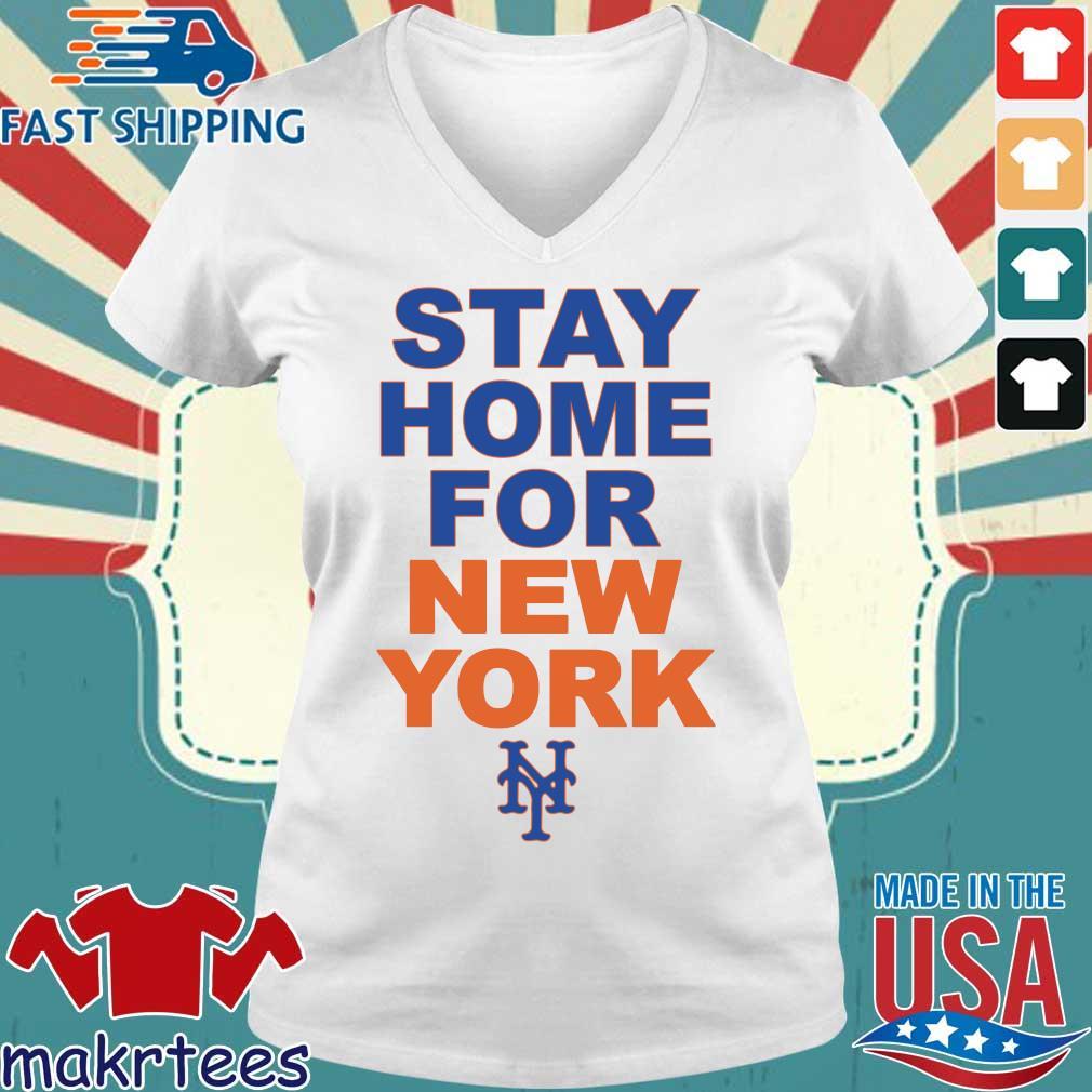 Stay Home For New York New York 2020 Shirt Ladies V-neck trang