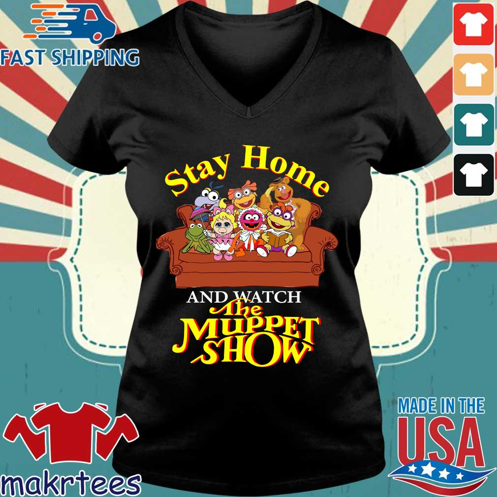 Stay Home The Muppet Show Shirt Ladies V-neck den