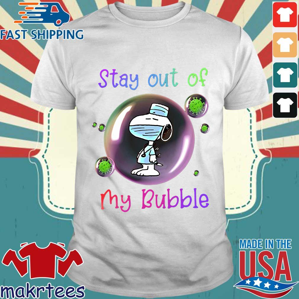 Stay Out Of My Bubble Snoopy Lovers Shirt