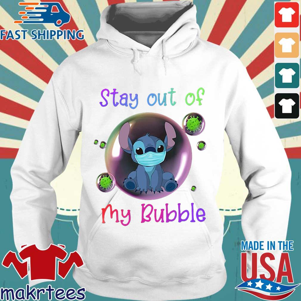 Stay Out Of My Bubble Stitch Lovers Shirt Hoodie trang
