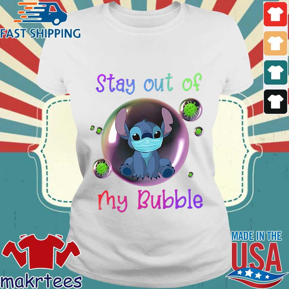 Stay Out Of My Bubble Stitch Lovers Shirt Ladies trang