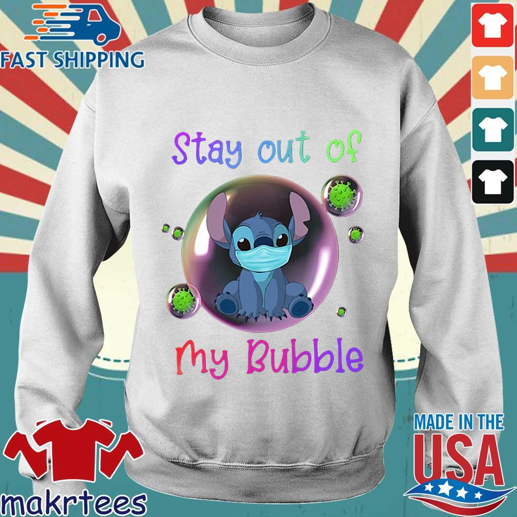 Stay Out Of My Bubble Stitch Lovers Shirt Sweater trang