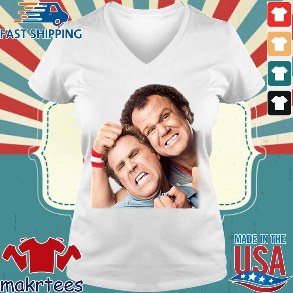 Step Brothers Poster Graphic Shirt Ladies V-neck trang